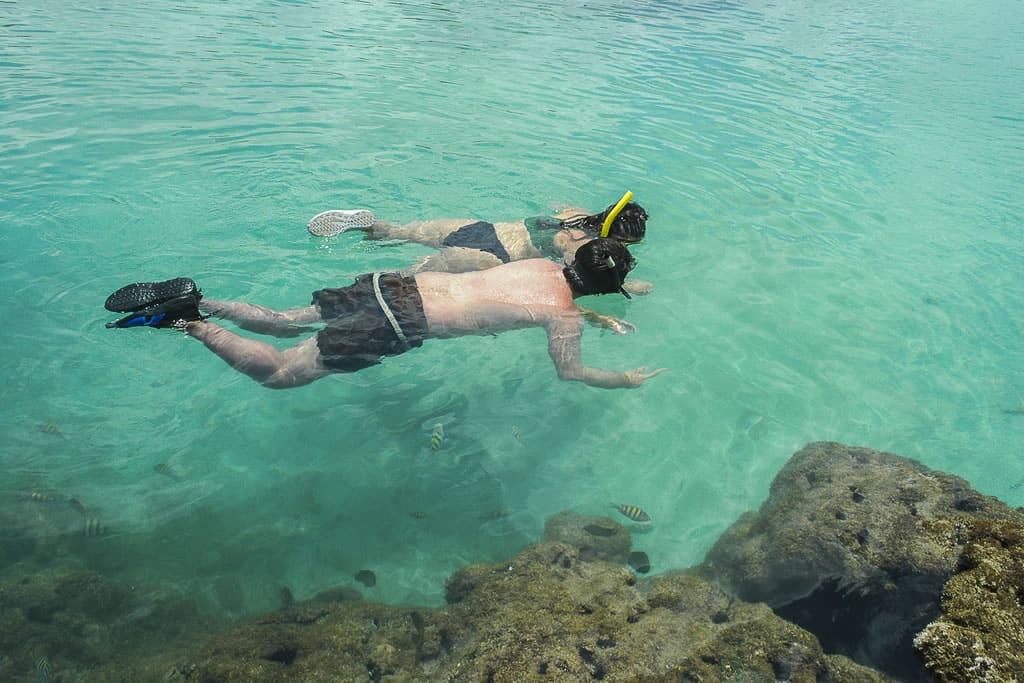 Nade nas piscinas naturais de Porto de Galinhas