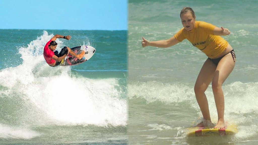 Surf e aulas de surf nas praias de Brasil