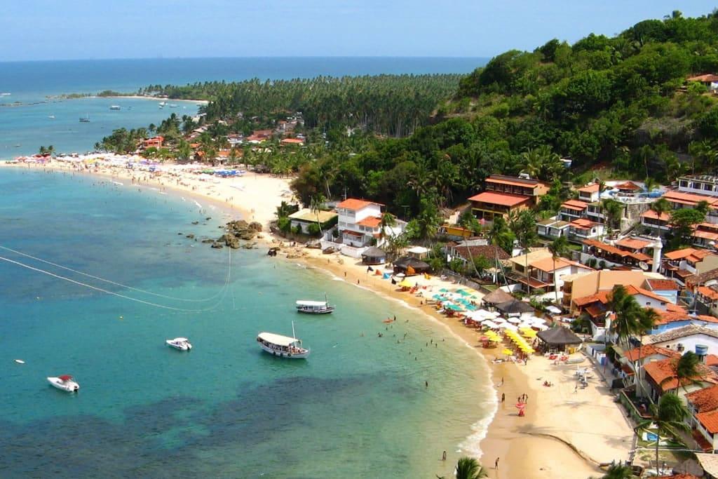 Os 5 destinos com playas de Brasil: Praia do Morro de Sao Paulo