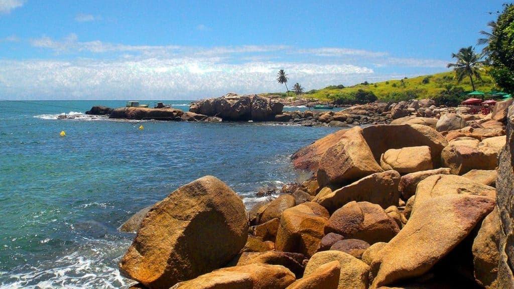 Cape Santo Agostinho in Praia de Calhetas