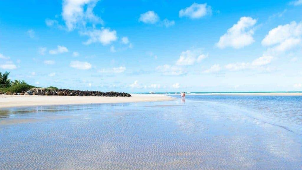 Maragogi Beach low tide