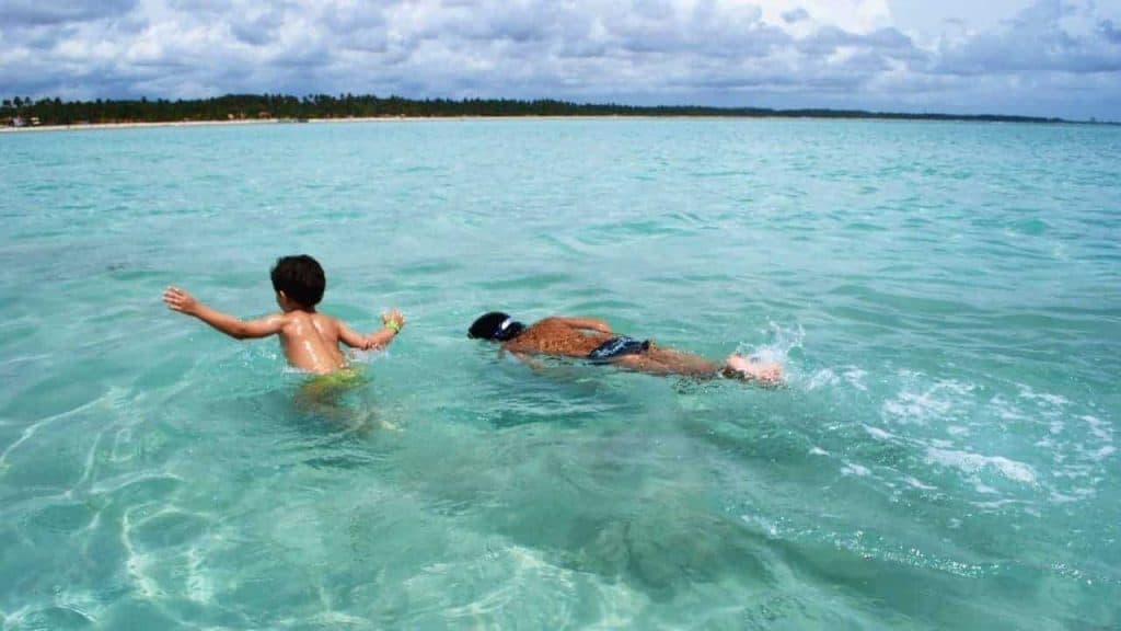 Swimming in Maragoggi Natural Pools