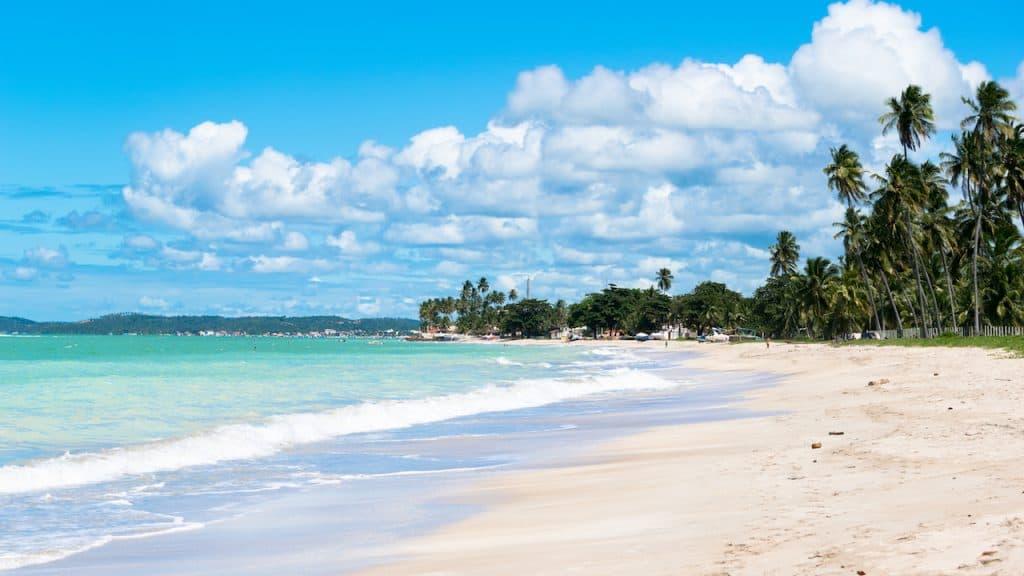 Antunes beach in Maragogi, Brazil