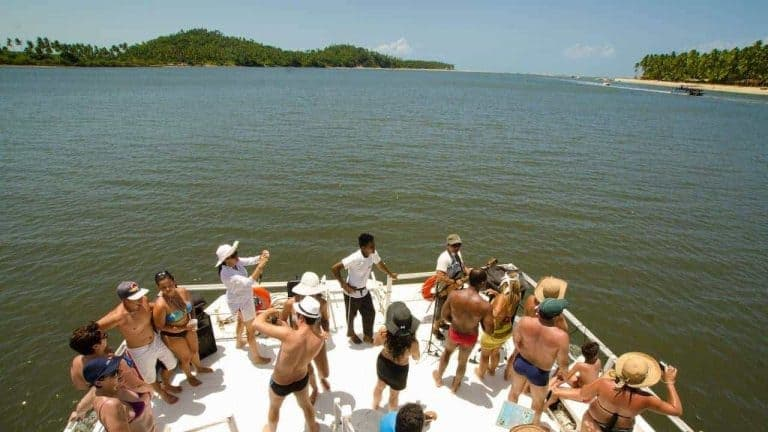 Boat to Carneiros Beach