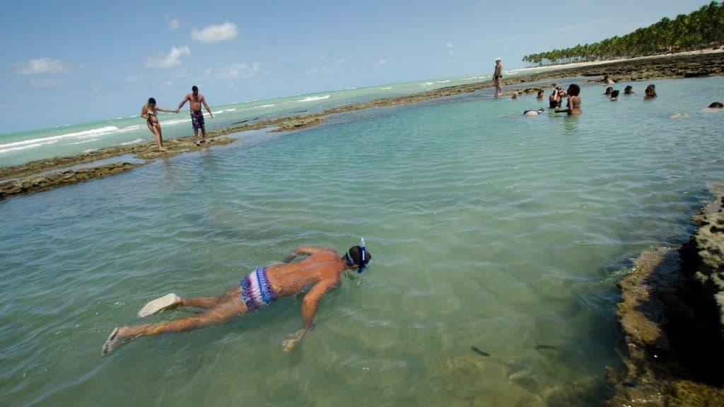 Natural pool in Carneiros beach