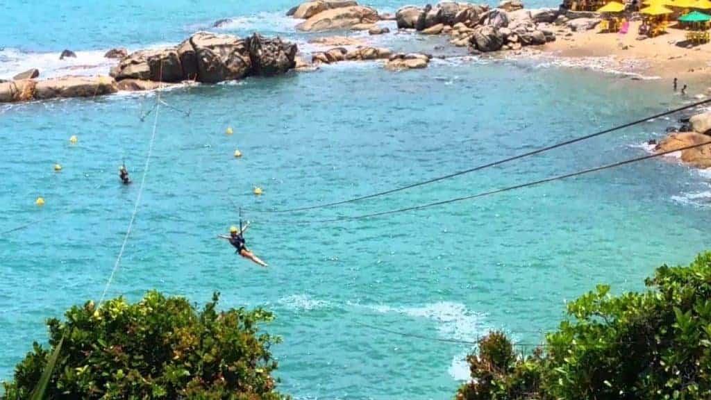 Zipline in Calhetas Beach