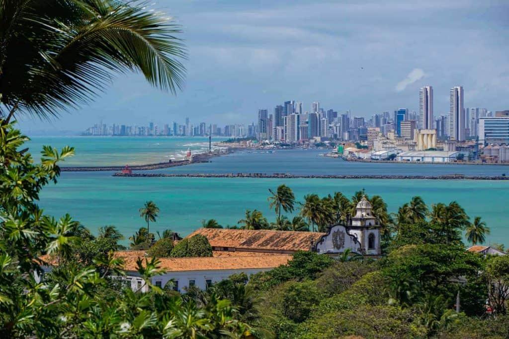 Vista de Recife desde Olinda