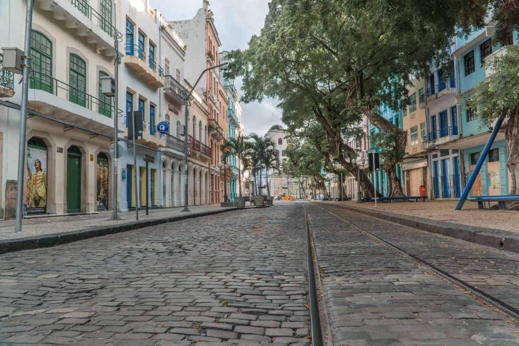 Bom Jesus street in Recife Pernambuco