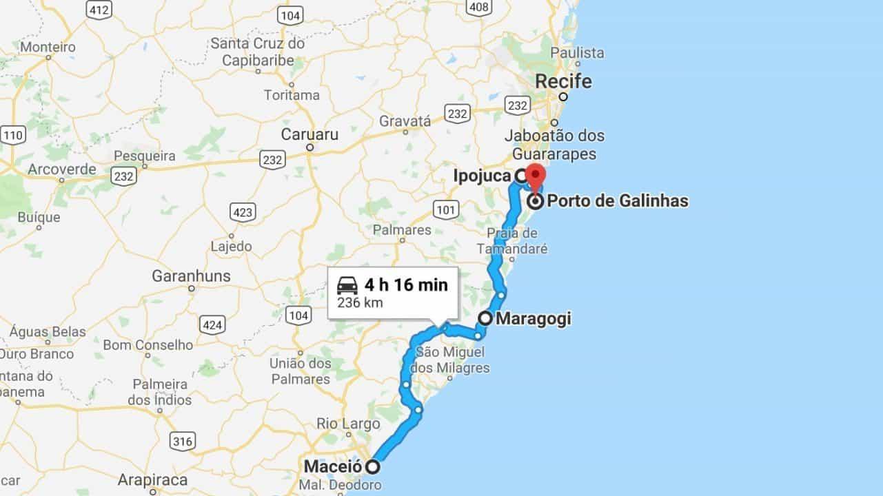 How to get from Maceio to Porto de Galinhas