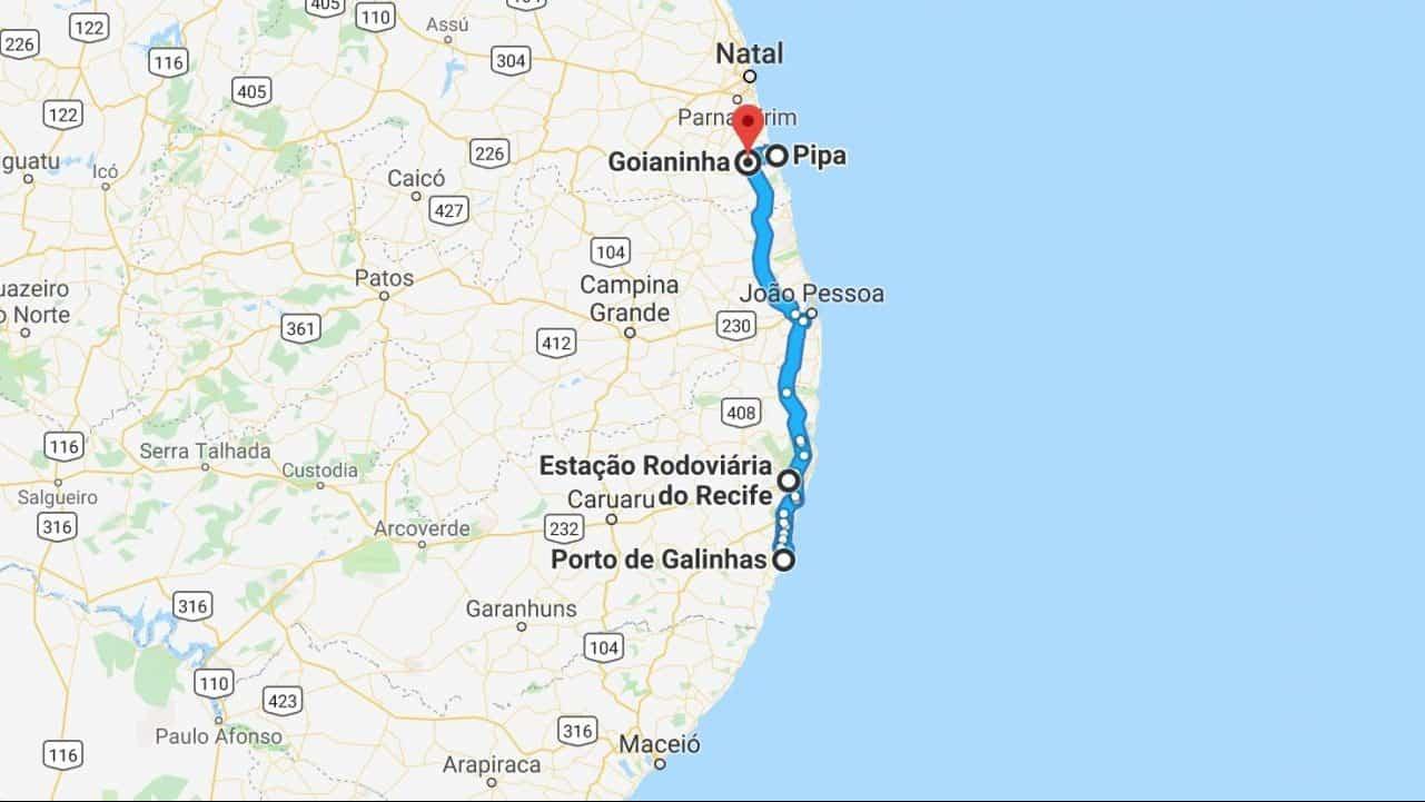 How to get from Pipa to Porto de Galinhas