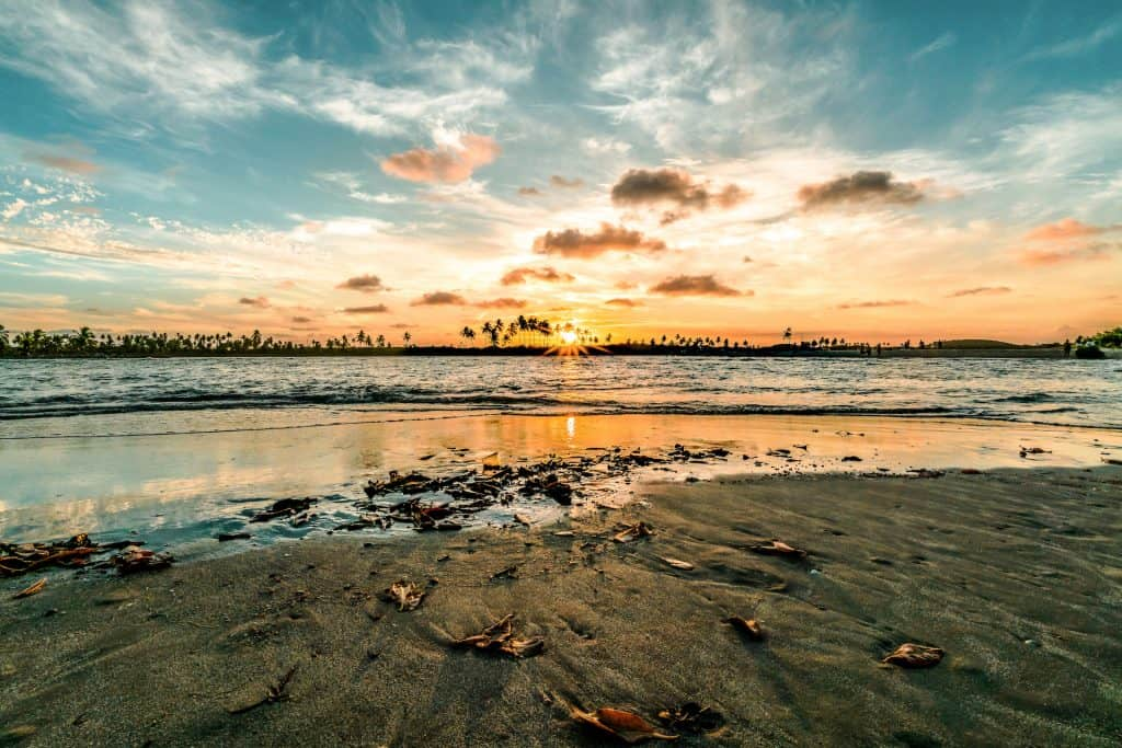 Pôr do sol no Pontal de Maracaipe
