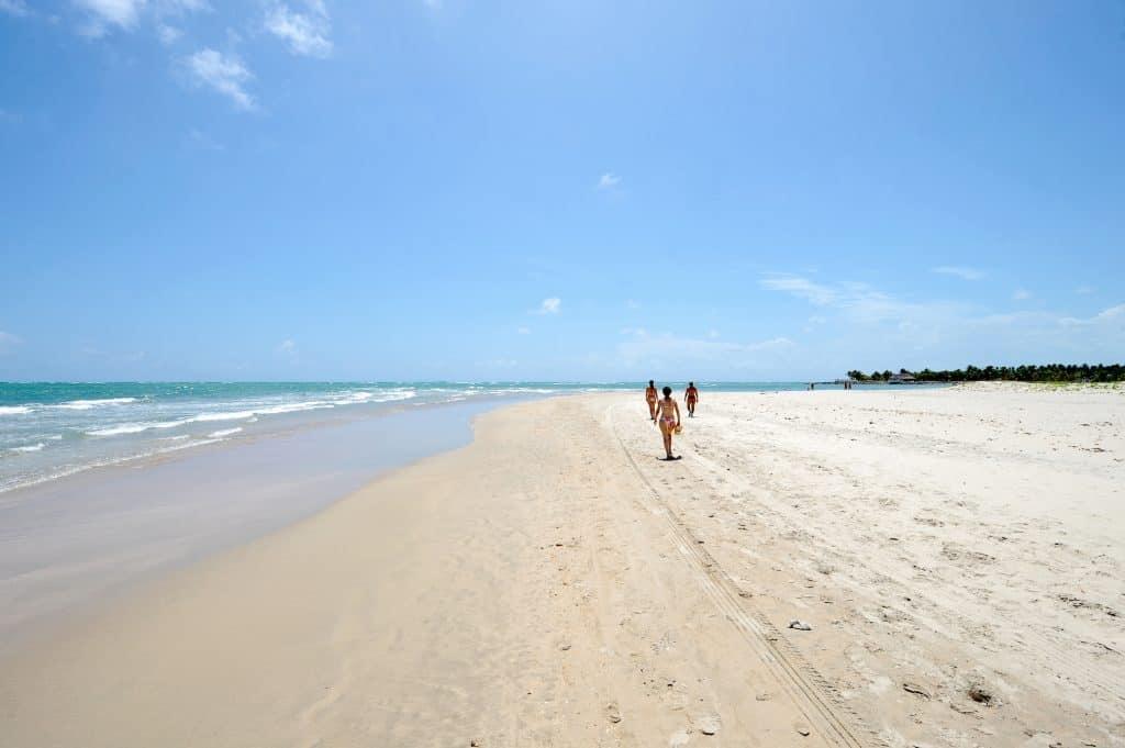 Walking in Maracaipe Beach