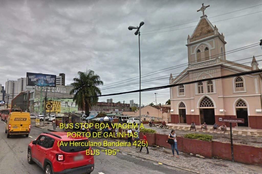 Bus Stop Boa Viagem Recife to Porto de Galinhas