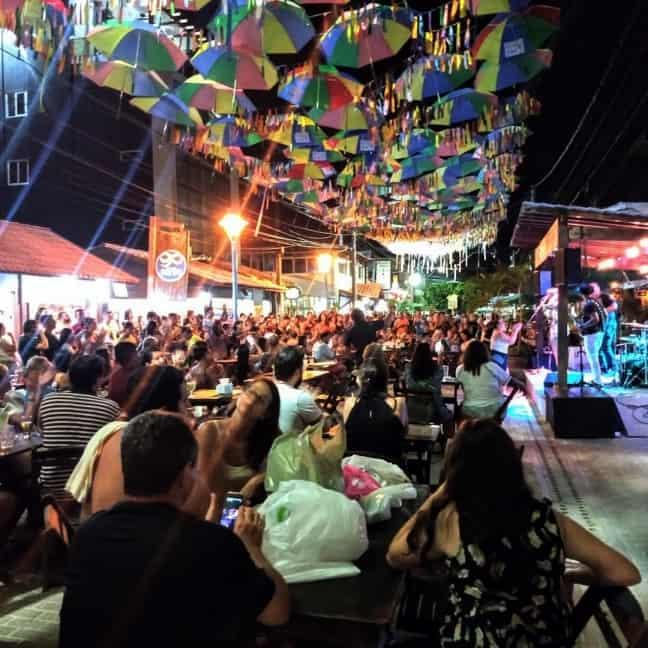 Portocult. A noite em Porto de Galinhas
